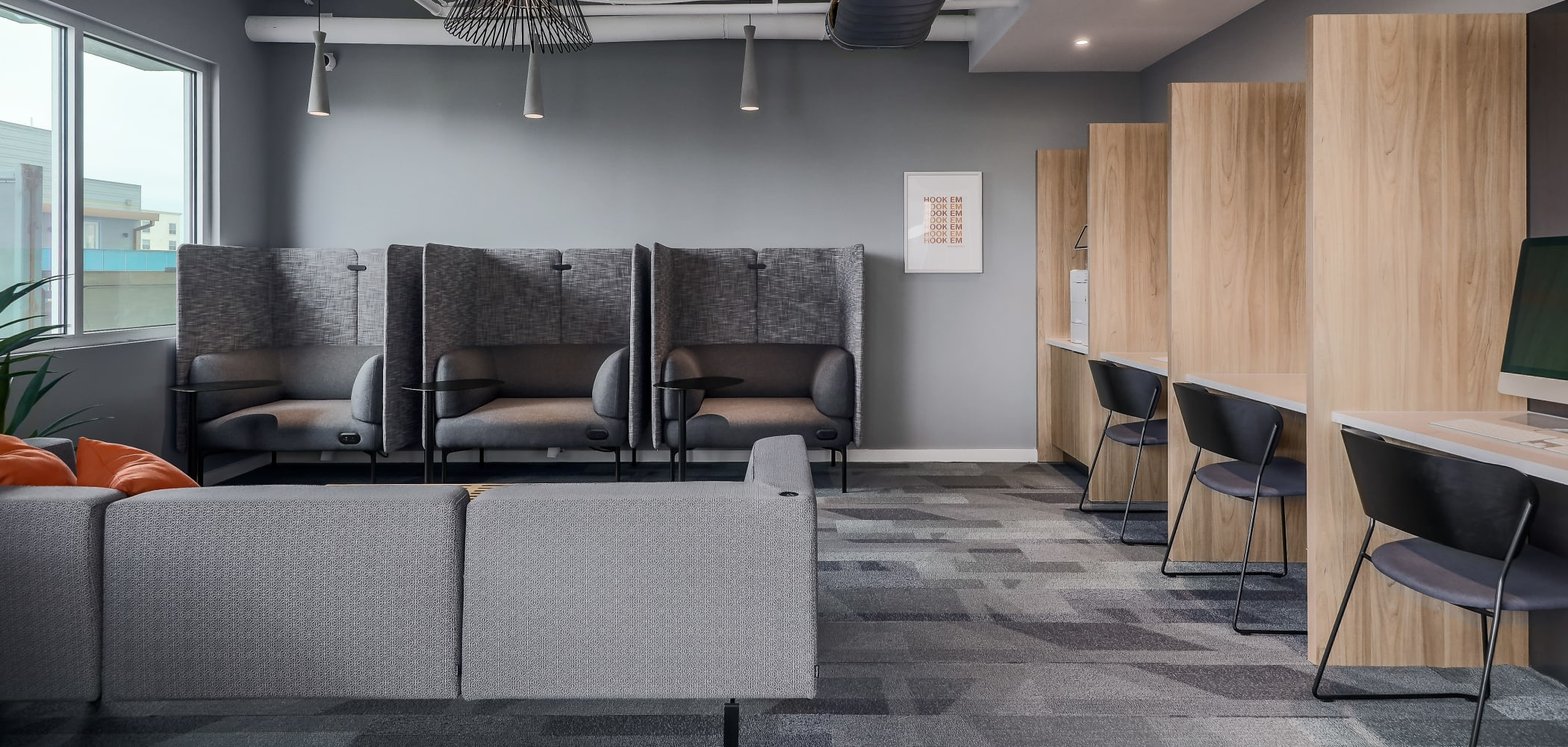 Study Lounge at 21 Rio | Student Apartments in Austin, Texas