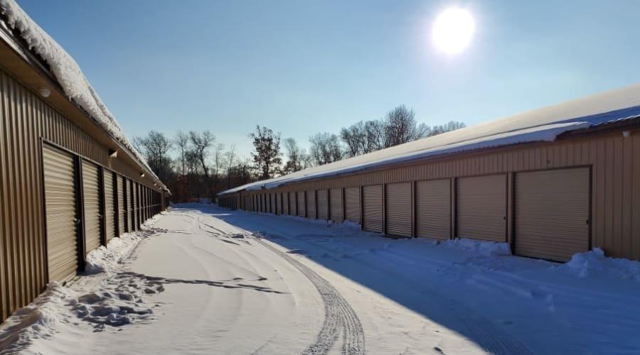 Exterior of outdoor units at KO Storage of Nisswa in Nisswa, Minnesota