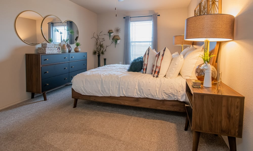Huge bedroom at Cottages at Crestview in Wichita, Kansas