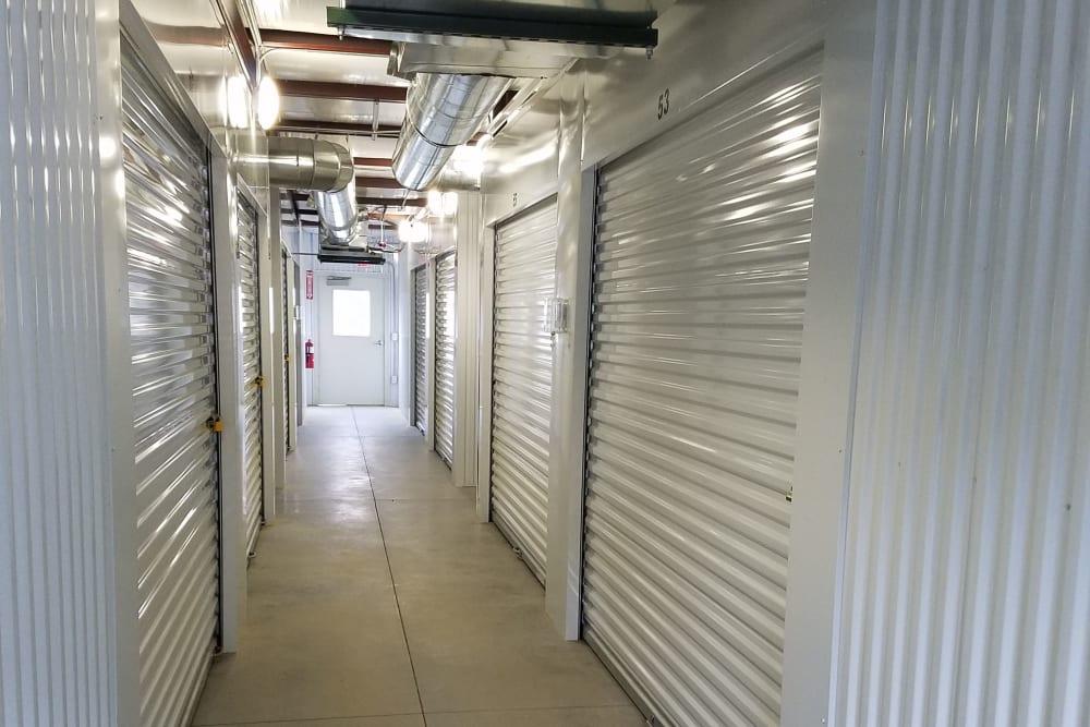 Interior storage units at Oakland Self Storage in Madison, Alabama