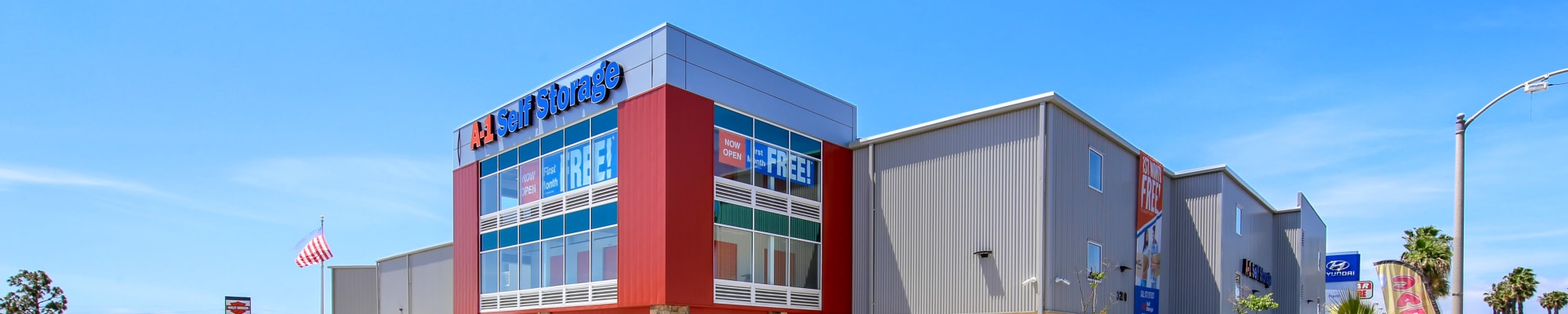Student storage options at A-1 Self Storage in Cypress, California