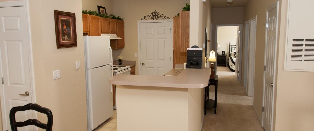 A spacious kitchen at O'Fallon Lakes in O'Fallon, Missouri