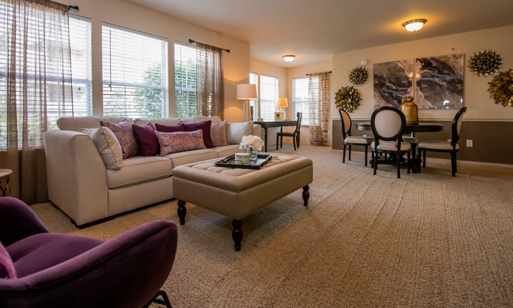 Open living room at Colonies at Hillside in Amarillo, Texas