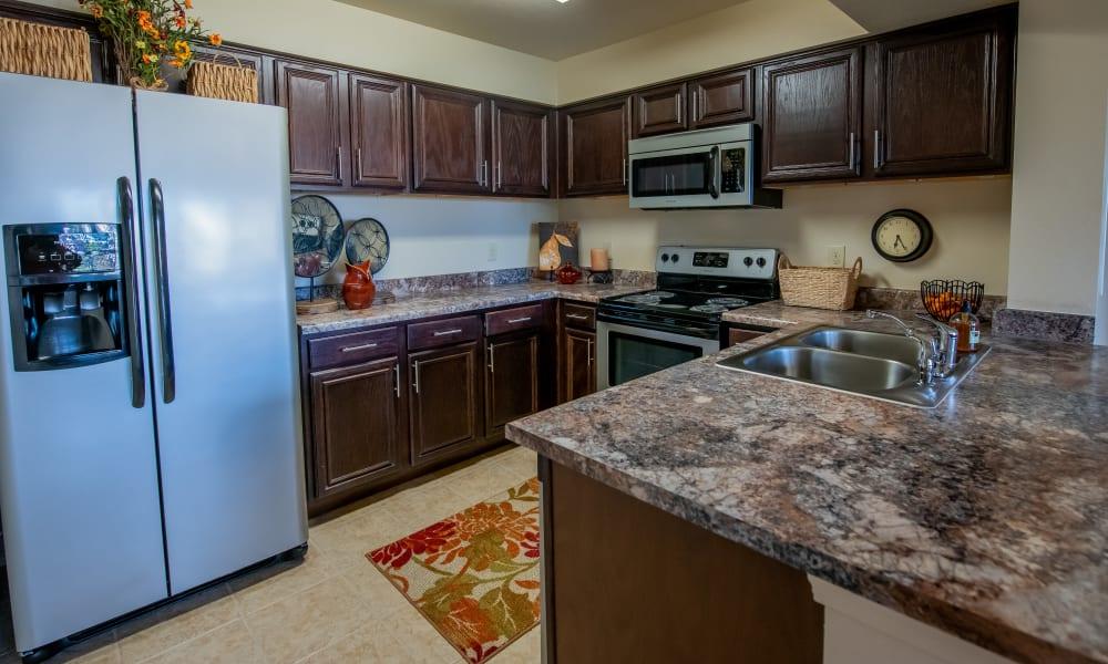 Bright kitchen at Park at Tuscany in Oklahoma City, Oklahoma