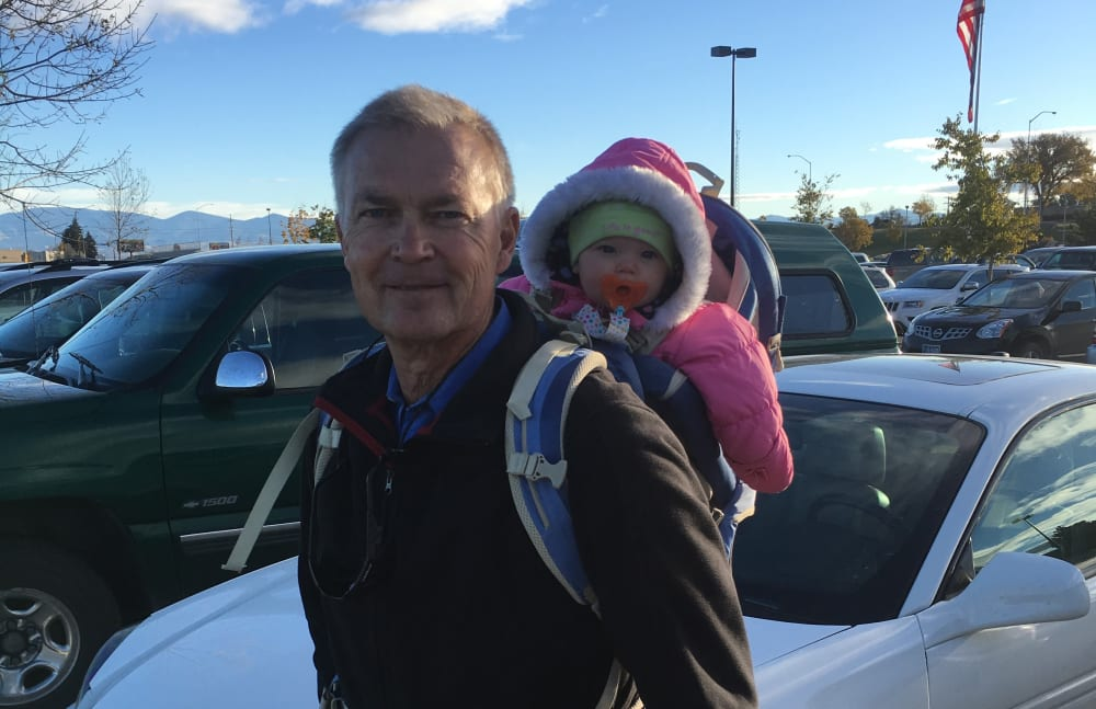 Steve from Touchmark Central Office in Beaverton, Oregon with his grandchild