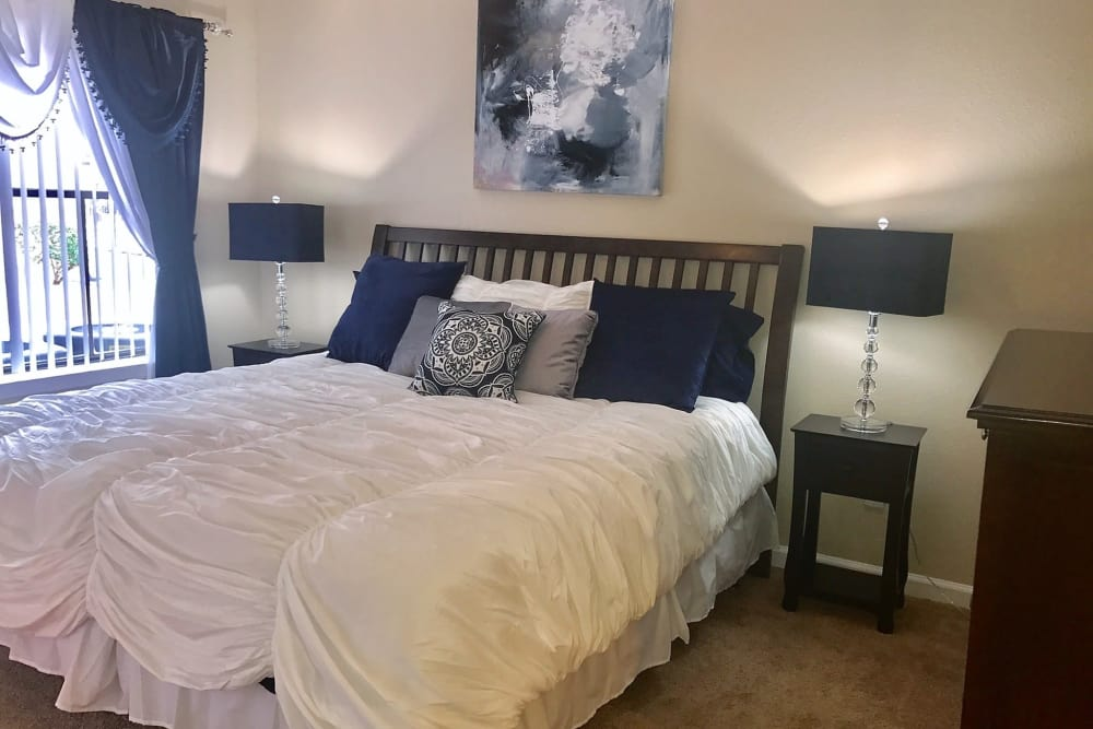 Master bedroom at Green Meadows Apartments