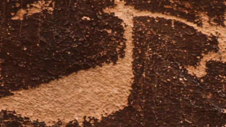 Petroglyph at Petroglyph State Park near Olympus Encantata in Albuquerque, New Mexico