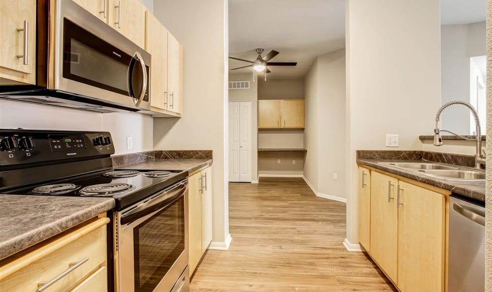 Large Kitchen area in model home at The Highlands at Spectrum in Gilbert, AZ