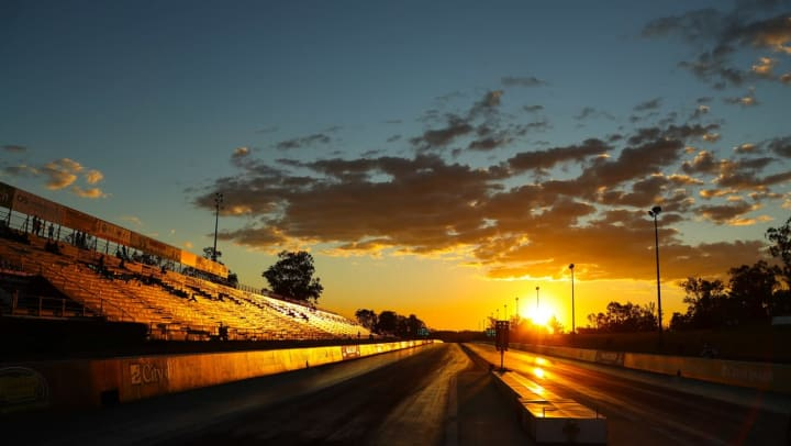 Photo of the Texas Motor Speedway near Olympus Waterford in Keller, Texas.