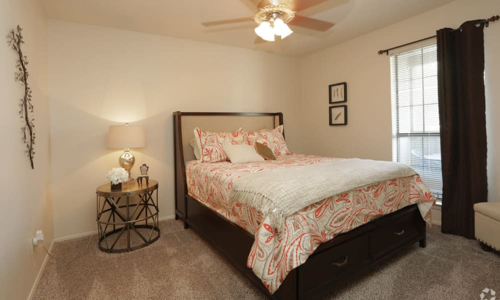 Large bedroom at High Ridge Apartments in El Paso, Texas