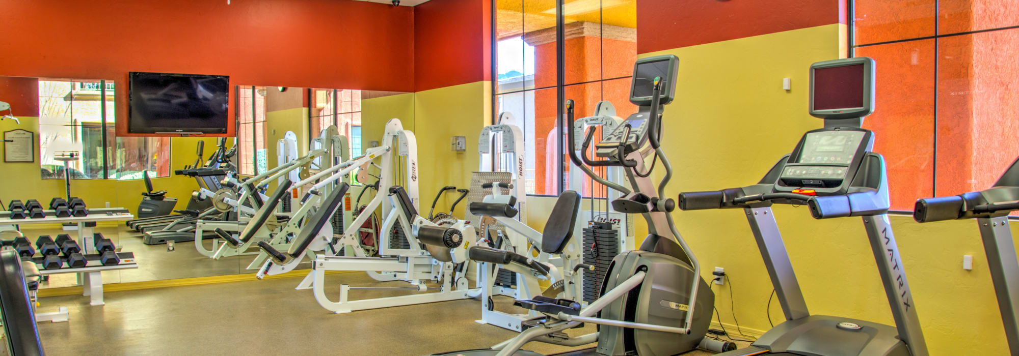 Fitness center at Oro Vista Apartments in Oro Valley, Arizona