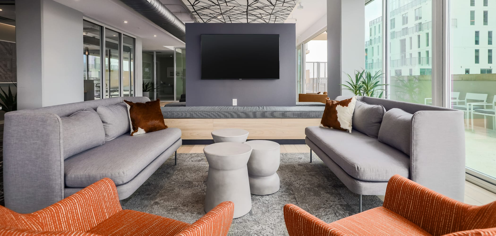 Modern Clubhouse Lounge at 21 Rio in Austin, Texas