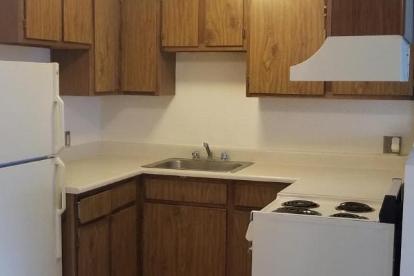 Kitchen layout at Tamarin Square in Durango, Colorado
