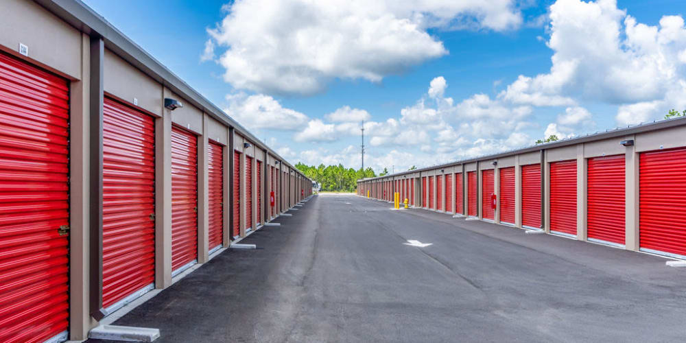 Exterior units at StorQuest Self Storage in Denver, Colorado