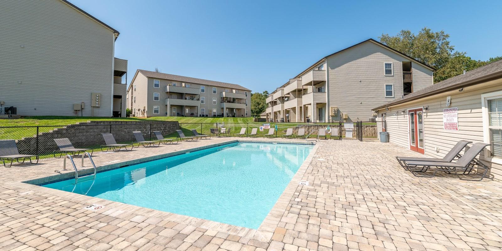 Swimming Pool at Kannan Station Apartment Homes in Kannapolis, North Carolina