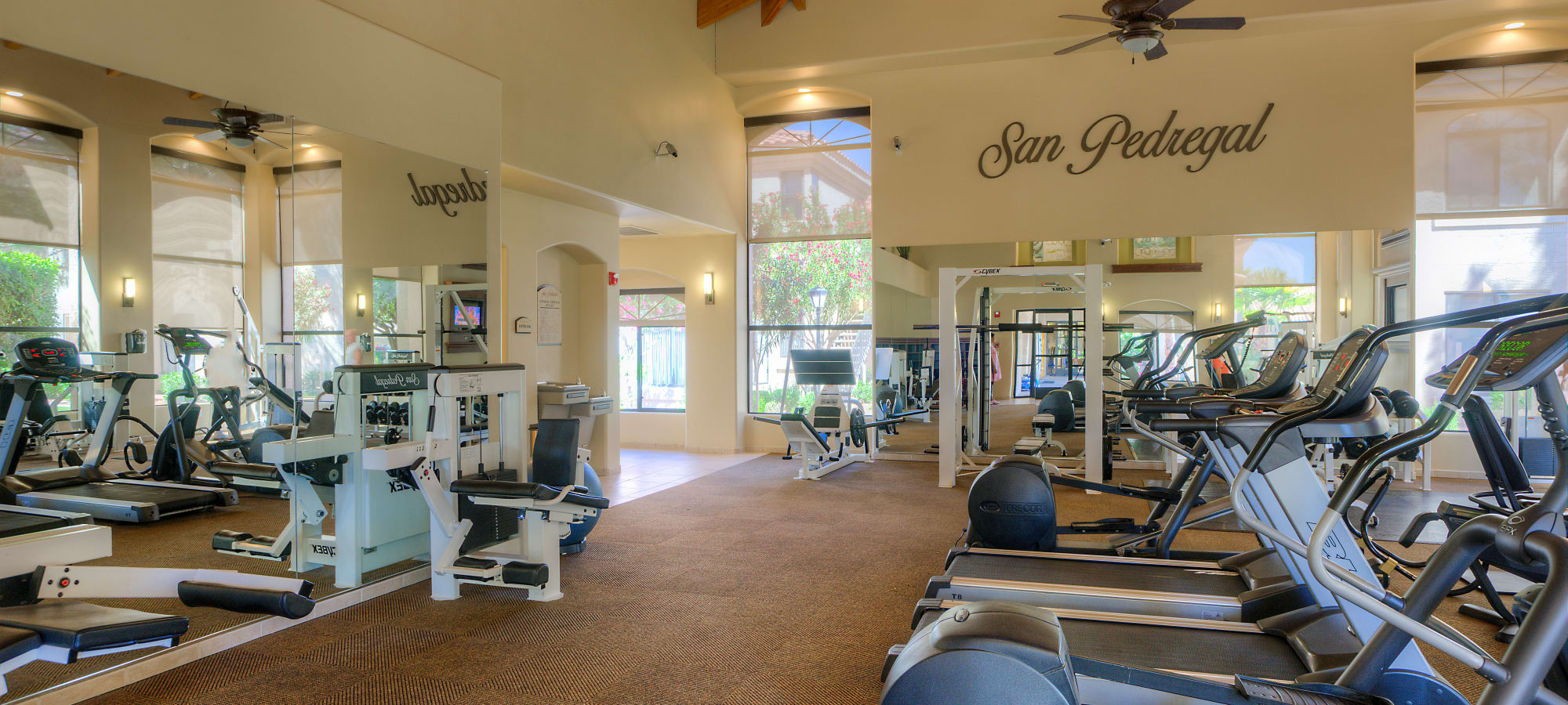 Very well-equipped fitness center at San Pedregal in Phoenix, Arizona