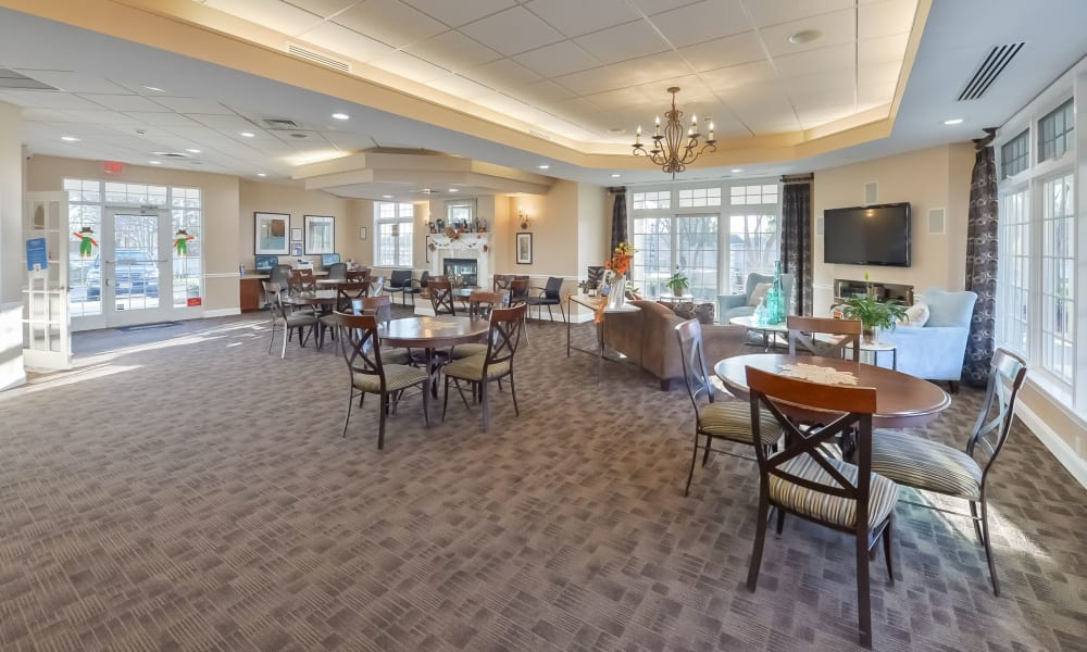 Clubhouse at Hill Brook Place Apartments in Bensalem, Pennsylvania