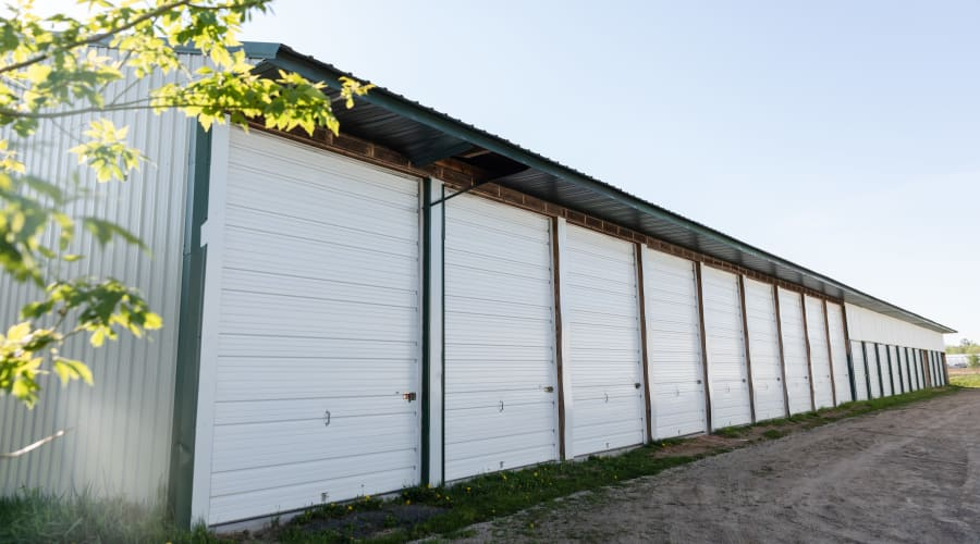 Exterior of outdoor units at KO Storage of Amery in Amery, Wisconsin