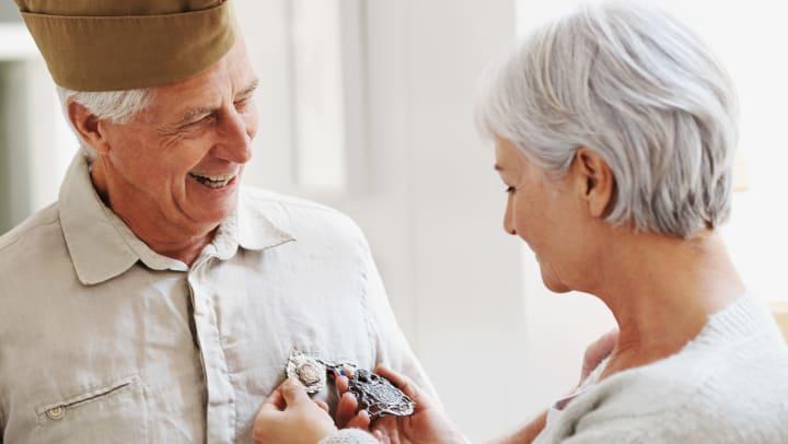 Senior Veteran and Wife