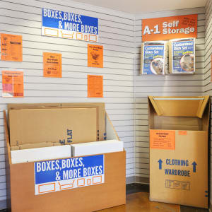 Boxes available from A-1 Self Storage in North Hollywood, California