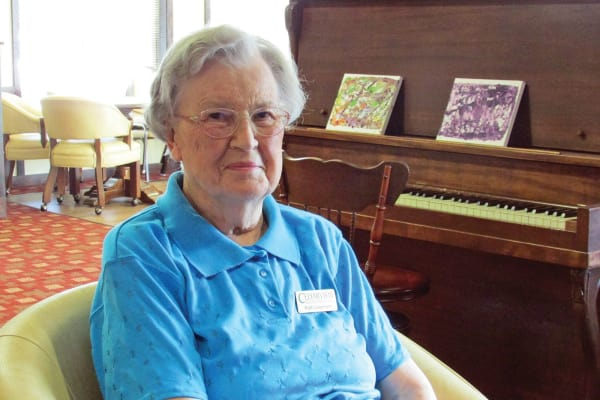 Ruth Loosmore, a resident at Cedarview Gracious Retirement Living in Woodstock, Ontario