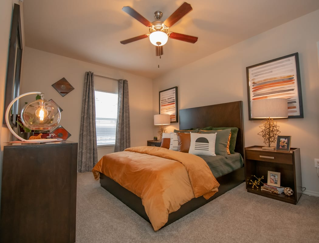 Cozy bedrooms at Cedar Ridge in Tulsa, Oklahoma.