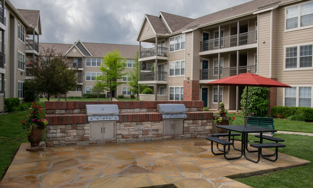 Outdoor kitchen at Winchester Apartments in Amarillo, Texas