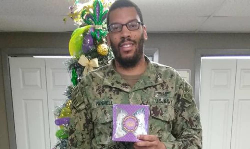 Serviceman smiling at Summerfield Apartment Homes