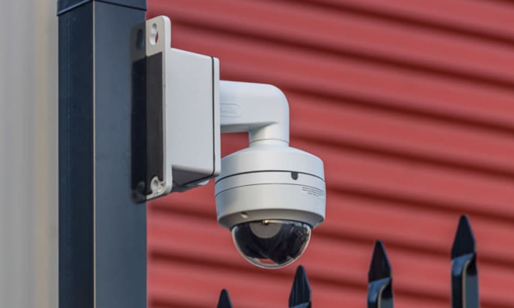 Camera surveillance monitoring the grounds at Raceway Heated Storage - Covington in Covington, Washington