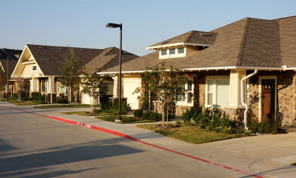 Independent living cottage at MacArthur Hills in Irving, Texas
