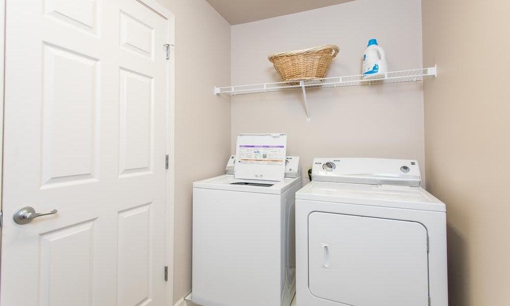 Modern washer/dryer at Preserve at Autumn Ridge in Watertown, New York