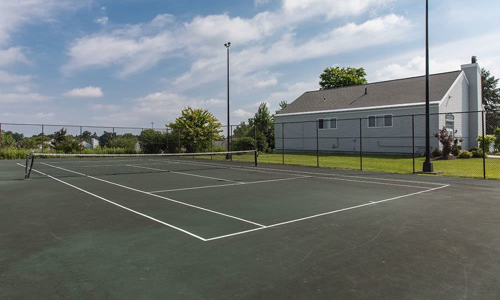 Tennis courts at The Meadows Apartments in Syracuse, New York