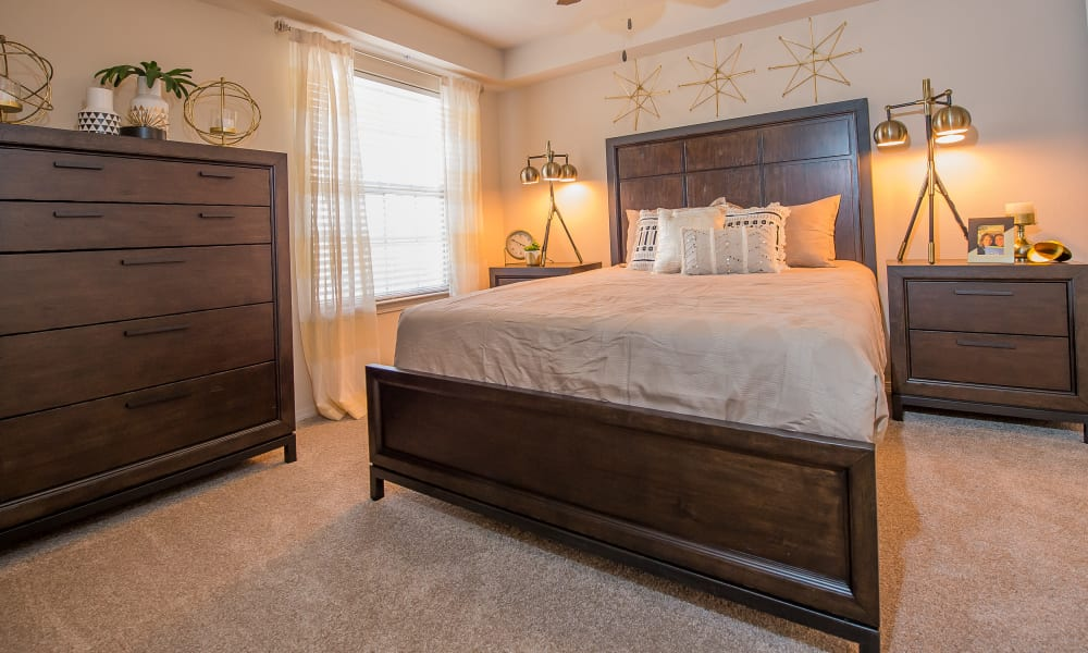 Master bedroom at Watercress Apartments in Maize, Kansas