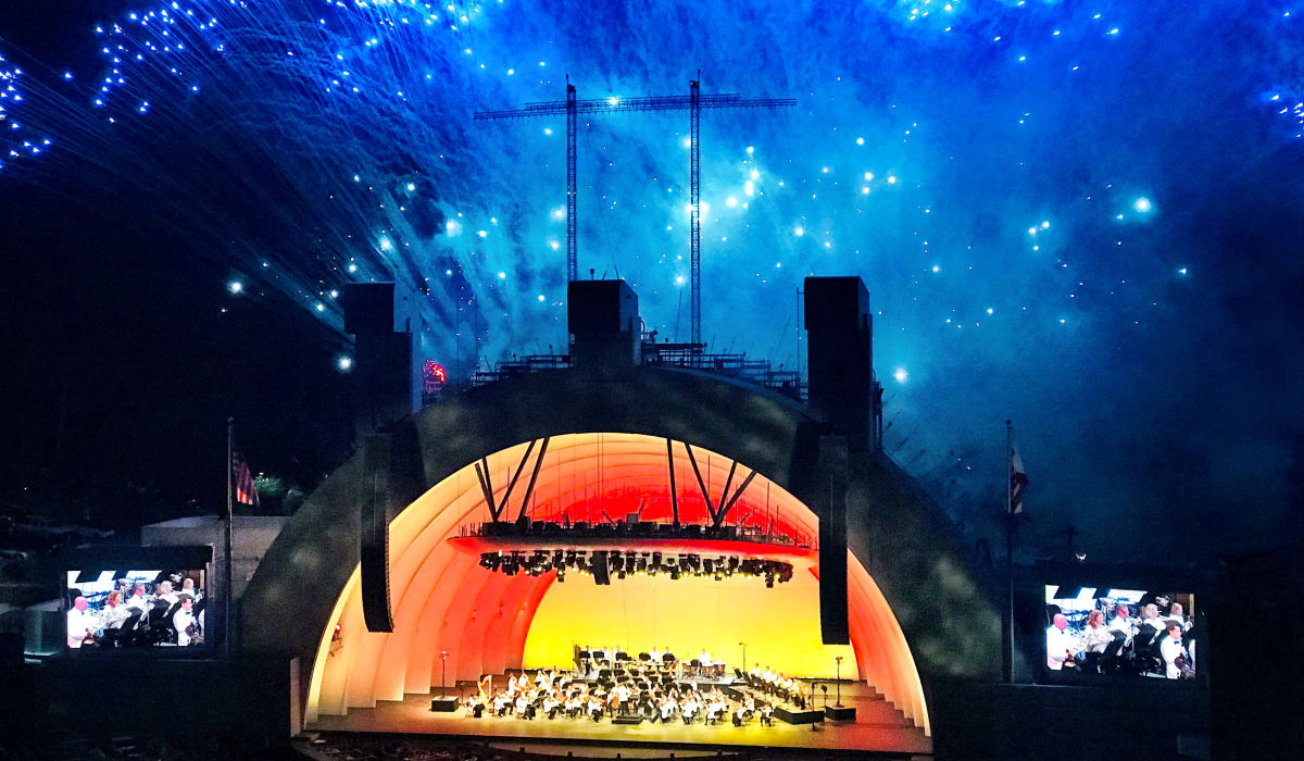 Concert in the evening at the Hollywood Bowl near Villa Vicente in Los Angeles, California