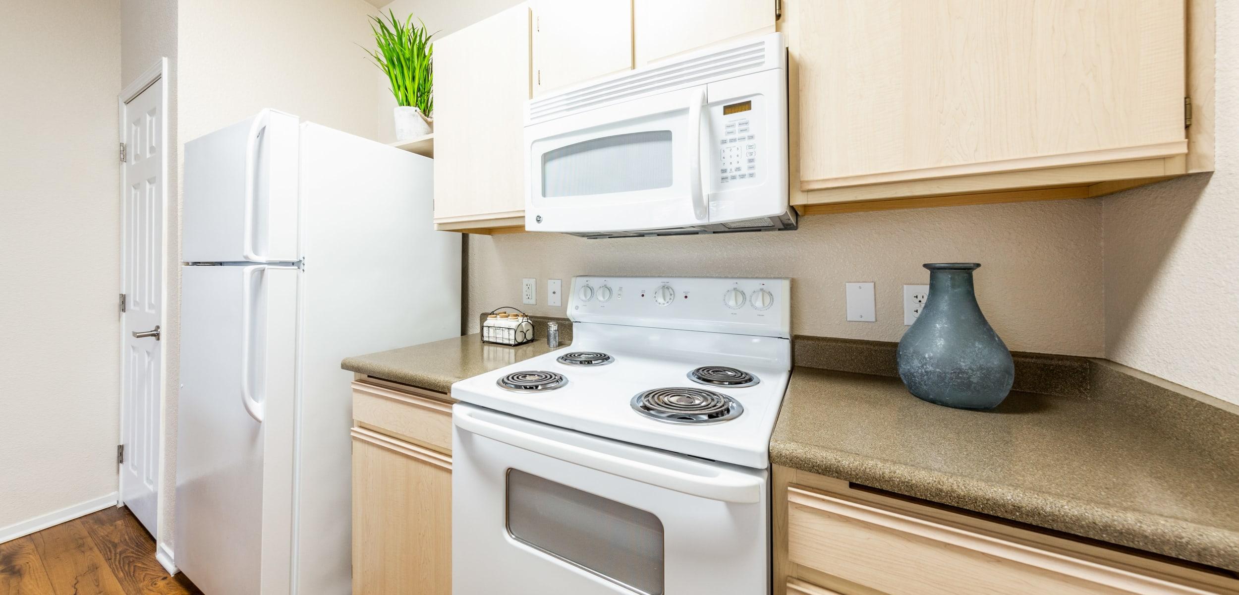 Modern, sleek kitchen at The Fairmont at Willow Creek in Folsom, California
