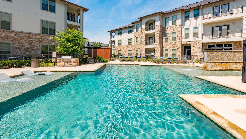 Swimming pool at Olympus at Waterside Estates in Richmond, Texas
