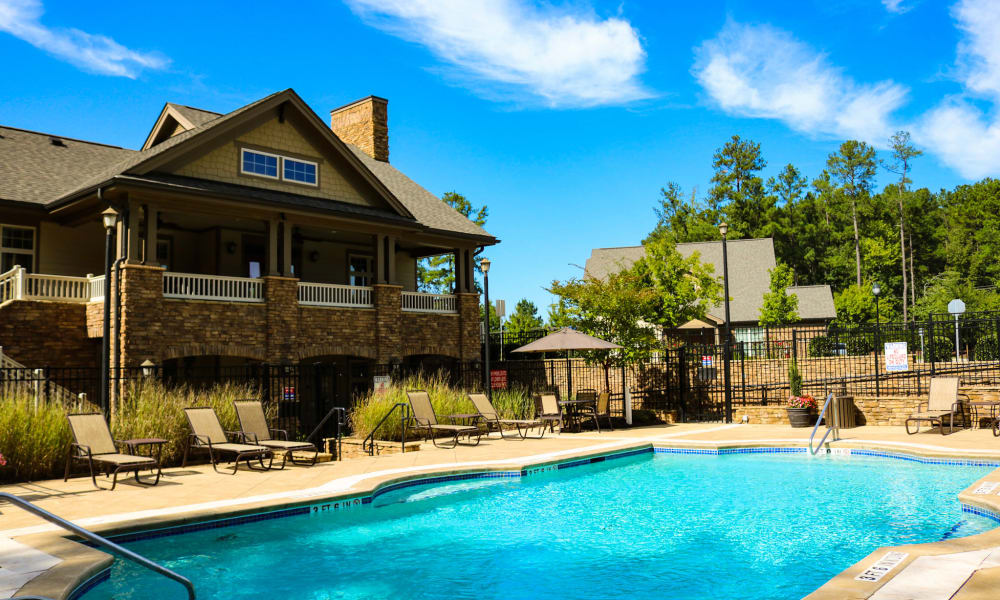 Enjoy our private swimming pool at Townhomes at Chapel Watch Village in Chapel Hill, North Carolina