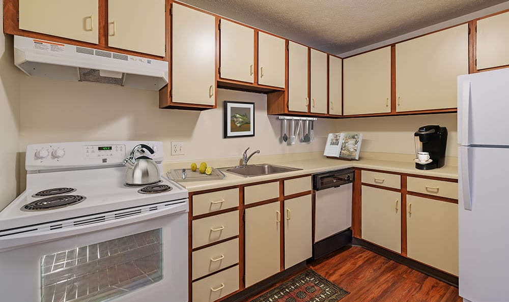 Beautiful spacious kitchen at Westpointe Apartments in Pittsburgh, Pennsylvania