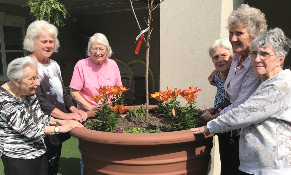 Garden Club at The Mansions at Gwinnett Park Assisted Living and Memory Care in Lawrenceville, Georgia