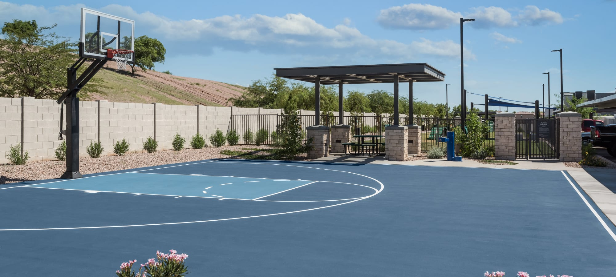 Basketball court at Aviva in Mesa, Arizona