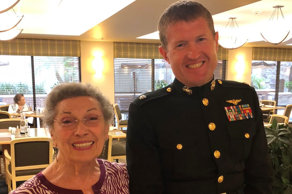 Veterans Day celebration at our senior living community in Bankers Hill, CA