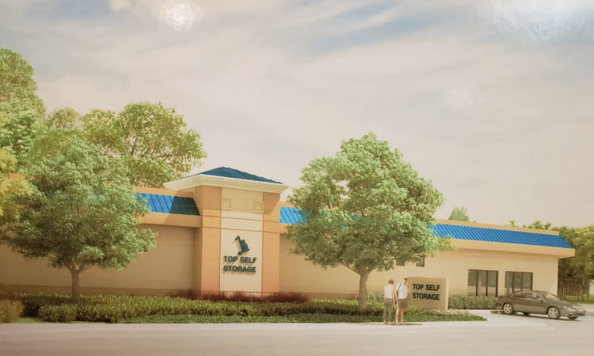 Rendering of the exterior of West Palm Beach, Florida near Top Self Storage