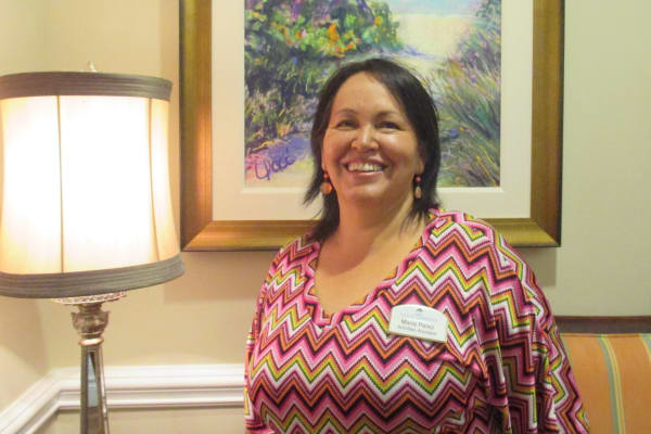 Maria at The Courtyards celebrating 22 years in the community at Discovery Senior Living in Bonita Springs, Florida