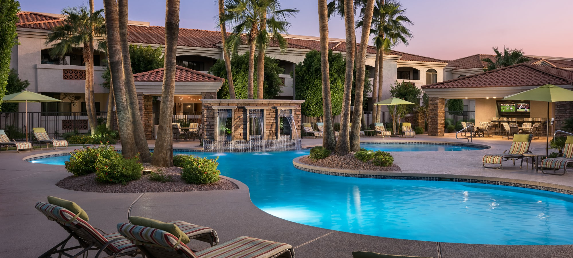 Luxury swimming pool at San Prado in Glendale, Arizona