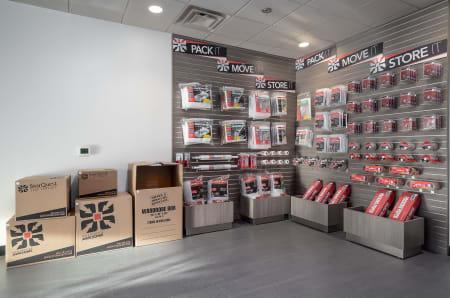 Storage supplies at StorQuest Self Storage in Fresno, California