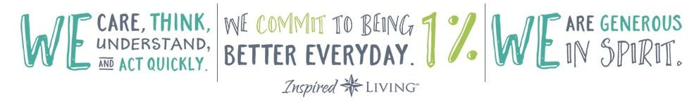 slogan graphic for Inspired Living in Sugar Land, Texas