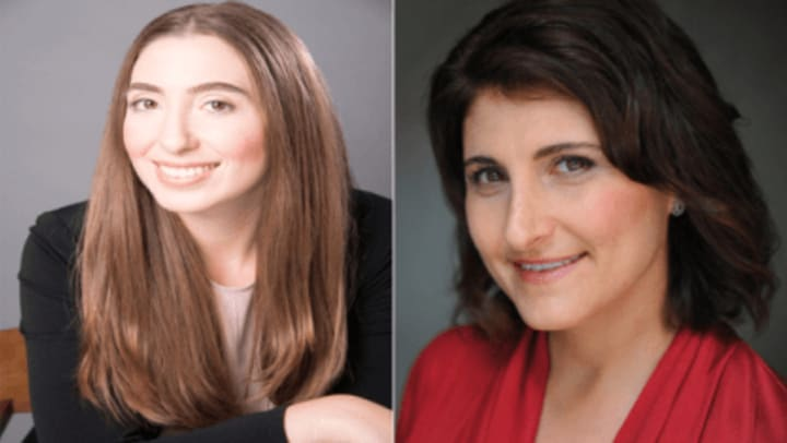 Headshots of Taryn Crawford (left) and Julie Bauch (right)