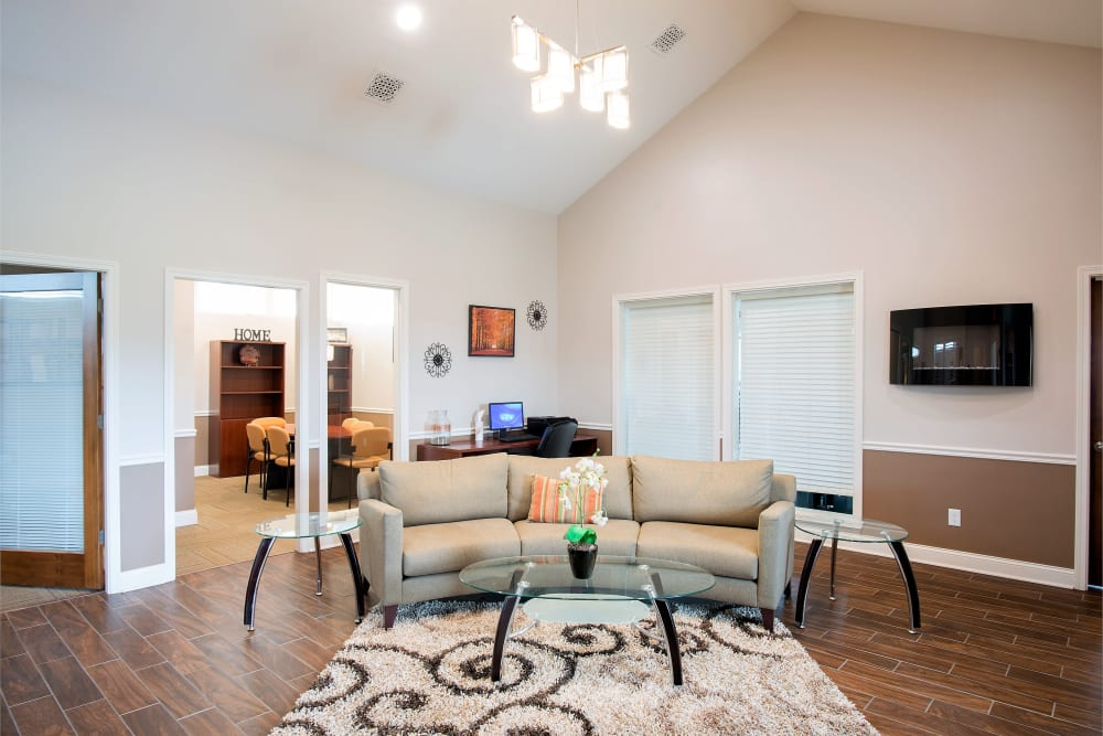 Gorgeous leasing office at Hampton Run in Glenville, NY