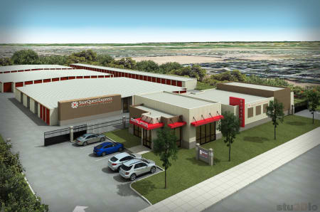 Aerial view of StorQuest Express - Self Service Storage in Tracy, CA