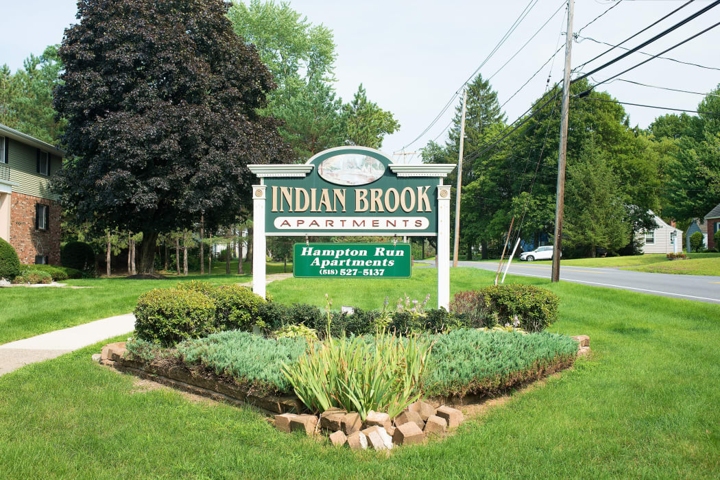 Signage at Indian Brook Apartments in Glenville